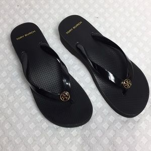 Tory Burch Shoes - Tory Burch Wedge Flip Flop Size 8